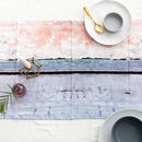 Abstract Textured Cotton Table Runner 'Aspect Stripe'