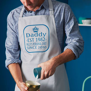 Personalised King Of The Kitchen Apron - aspiring chef