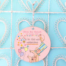 Personalised New Baby Arrival Decoration