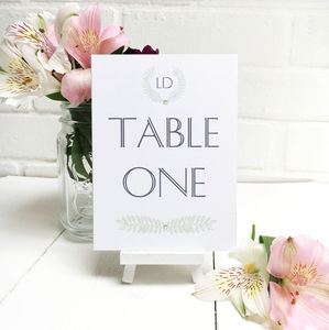 Grecian Pastels Table Number Or Name Cards