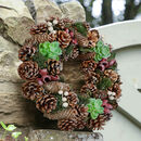 Succulent Blooms Personalised Spring Wreath