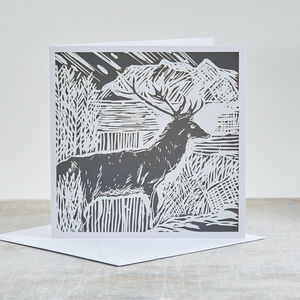 Burn's Night Scottish Highlands Blank Card - cards & wrap