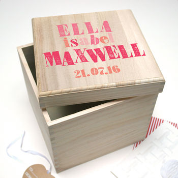Personalised Letterpress Keepsake Box from Letterfest