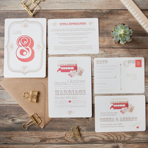 Magic Bus Wedding Stationery - table decorations