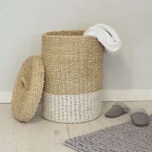 Wicker Linen Basket - laundry bags & baskets