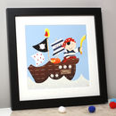 Personalised Captain Pirate Ship Art Print