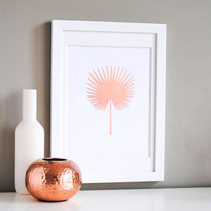 Fan Palm Copper Print