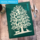 Family Tree Papercut Template Digital Pdf