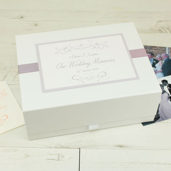Personalised Lucy Wedding Wedding Memory Box