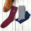 Set Of Three Personalised Spotty Socks