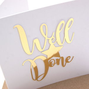 Well Done Card Luxe Gold