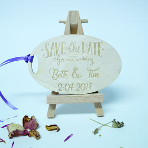 Personalised 'Save The Date' Oval Invitation - invitations
