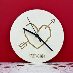 Personalised Couples Clock - favourites