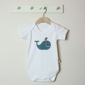 Organic Whale Short Sleeve Bodysuit - babygrows