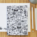 Illustrated Brighton Notebook Set Of Two