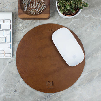 Personalised Leather Mouse Mat