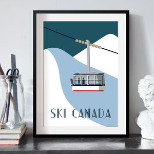 Tele Cabin Resort Art Print - personalised