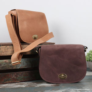 Bette Leather Cross Body Saddle Bag