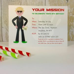 16 Spy Party Invitations Or Thank You Cards