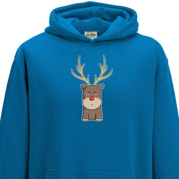 Cute Reindeer Christmas Jumper Child Hoodie