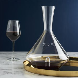Personalised Initials Wine Decanter - drinks connoisseur