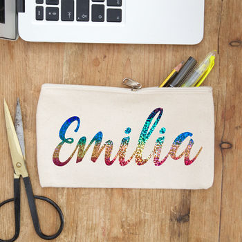 Rainbow Name Pencil Case