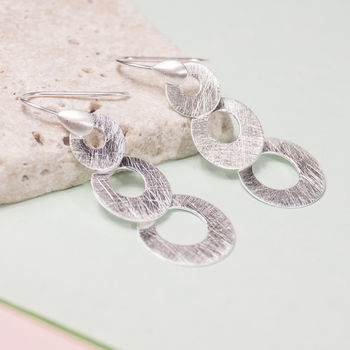 Silver Decreasing Circles Earrings