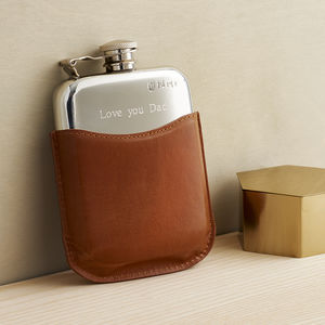 Mr Jones Personalised Hip Flask - gifts for grandparents