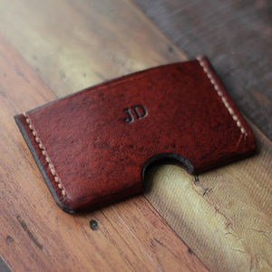 Personalised Slim Leather Card Holder - more
