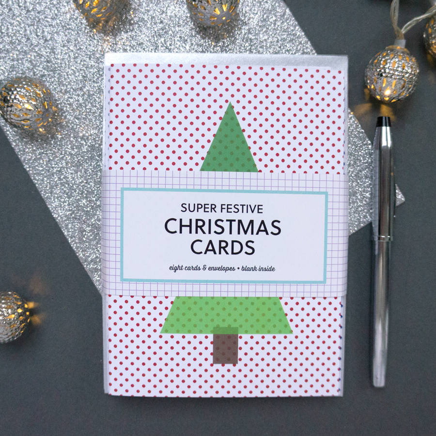 Multipack Of Modern Christmas Cards