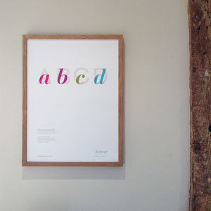 Alphabet Print Series One - posters & prints