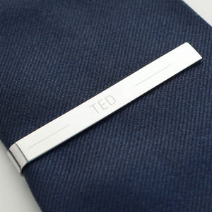 Personalised Tie Clip - personalised gifts