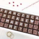 Personalised Please Will You Marry Me Chocolate Gift