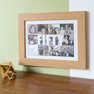Personalised Fifty Photo Collage Birthday Gift - people & portraits