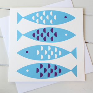 Newlyn Fish Blank Greetings Card
