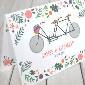 Tandem Bike Lovers Wedding Day Invitations - wedding stationery