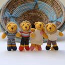 Hand Knitted Lion Soft Toy In Organic Cotton