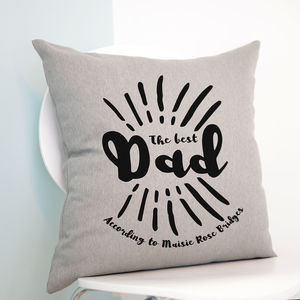 Personalised The Best Dad Cushion - cushions