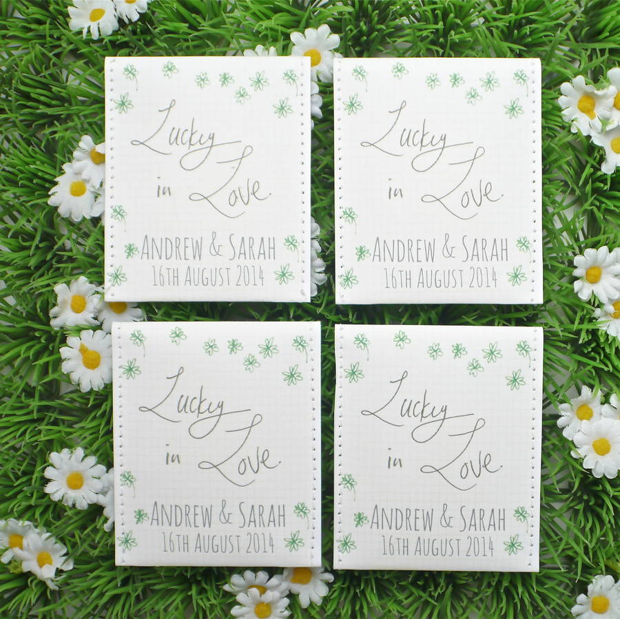 shamrock seed wedding favours pack of 10 by victoria mae designs ...