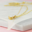 Gold Opal October Birthstone Necklace