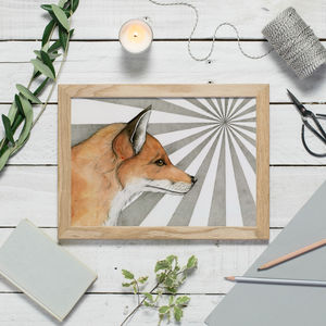 Fox In The Sunlight Print - baby's room