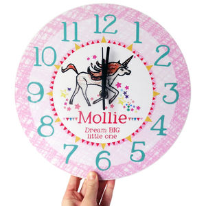 Personalised Wall Clock For Girls - office & study