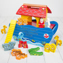 Colourful Personalised Wooden Noah's Ark Toy