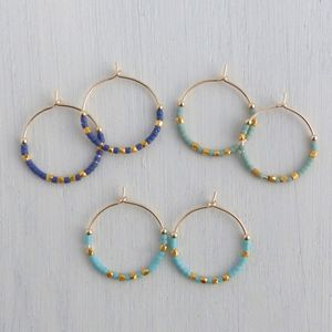 Medium Fair Trade Ocean Inspired Hoop Earring