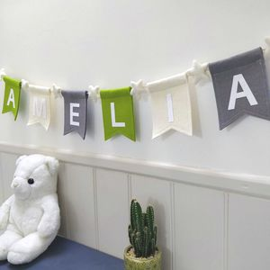 Personalised Felt Bunting With Felt Stars - bunting & garlands