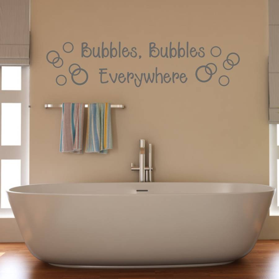 Bathroom Bubbles Wall Sticker By Mirrorin Notonthehighstreetcom