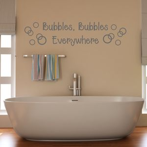 Bathroom Bubbles Wall Sticker