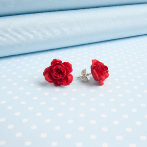 Rose Earrings In A Choice Of Colours