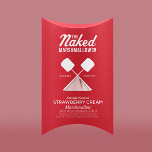 Strawberry Cream Gourmet Marshmallows - summer party food & drink