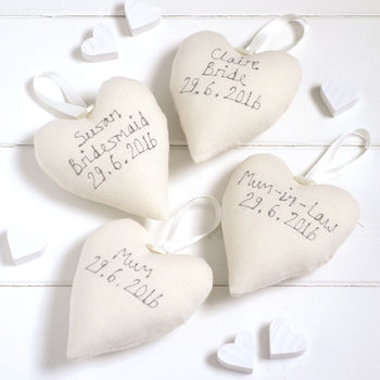 Personalised Bridesmaid Hanging Heart